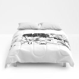 asc 795 - Les espaces de Lazar (Tattoo deconstruction) Comforters