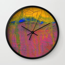 Mostly Pink Wall Clock
