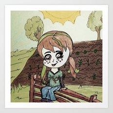 Garden Fence {Carrots & Tofu} Art Print