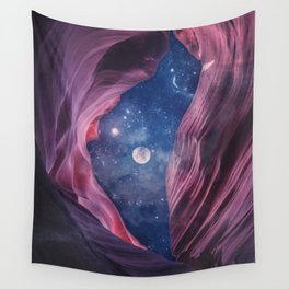 Grand Canyon with Space Collage Wall Tapestry