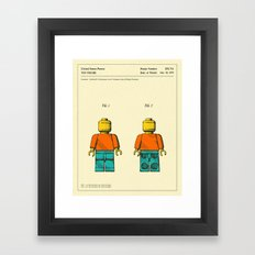 TOY FIGURE Framed Art Print