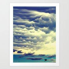 Mammatus Clouds II Art Print