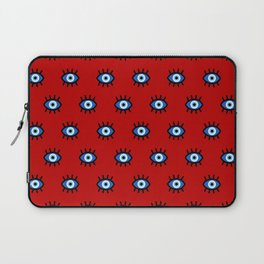 Evil Eye on Red Laptop Sleeve