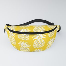 Mid Century Modern Pineapple Pattern Yellow Fanny Pack