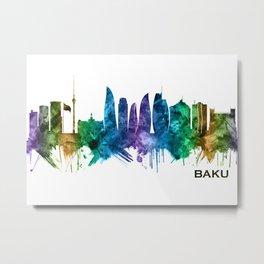 Baku Azerbaijan Skyline Metal Print