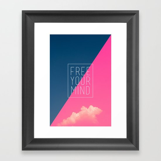 Free Your Mind III Framed Art Print