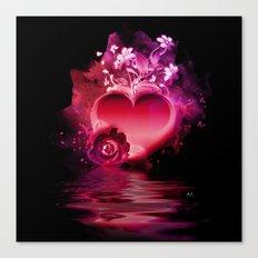 Flooding Heart Canvas Print