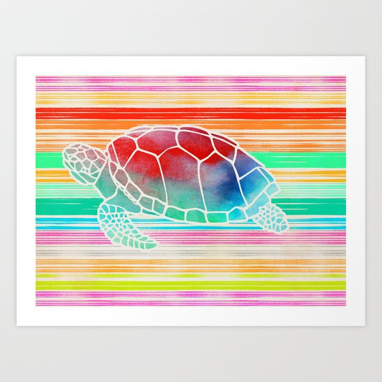Turtle Collage by Garima and Jacqueline Art Print