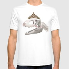 Rex, the King of Dinosaur Mens Fitted Tee MEDIUM White