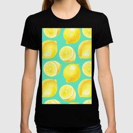 Watercolor lemons pattern T-shirt