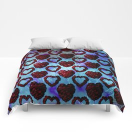 Gothic Rose Petal Hearts Comforters