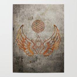 Angel Wings Metatron Flower of Life T-shirt Poster