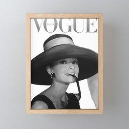 Audrey Hepburn Art Paris Framed Mini Art Print