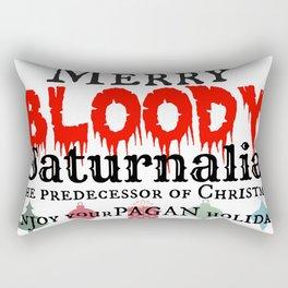 Merry Bloody Saturnalia aka: Christmas Rectangular Pillow