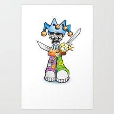 skull clown Art Print