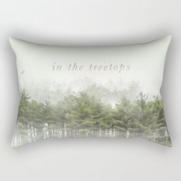 in the treetops / 2 of 3 / Haikushion Rectangular Pillow