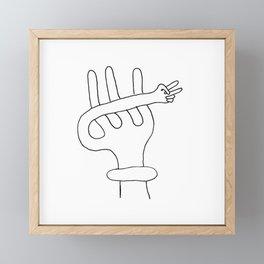alien peace Framed Mini Art Print
