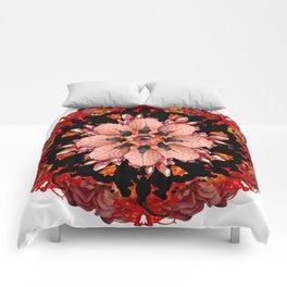 flame crows mandala Comforters
