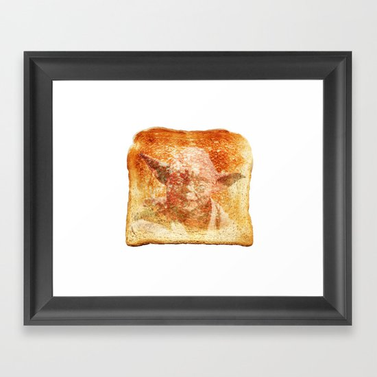 yoda toast Framed Art Print