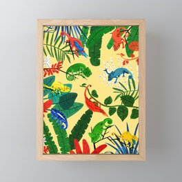 Nine Chameleons Hiding in the Tropics Framed Mini Art Print