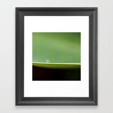 on a ledge Framed Art Print