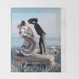 Puerto Vallarta, Mexico Sculpture by the Sea Throw Blanket