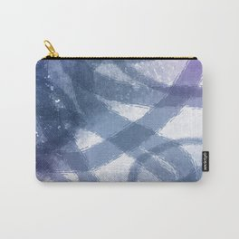 Blue Purple Watercolor Circles Carry-All Pouch