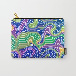 Swirls in blue and green Carry-All Pouch