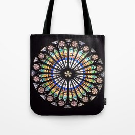 Stained glass cathedral rosette Tote Bag