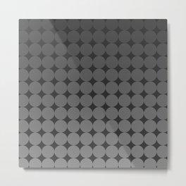 Blackk Circles Metal Print
