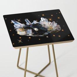 Star Aura Quartz Side Table