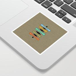 Mid Century Modern Trapezoids Sticker