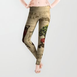 Vintage Christmas Cat Leggings