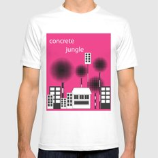 concrete jungle Mens Fitted Tee MEDIUM White