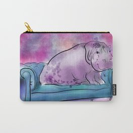 animals in chairs #9 variations on a theme Hippo Carry-All Pouch