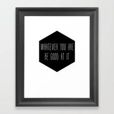 Be Good Nursery Print Framed Art Print