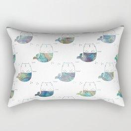 MerKitty Ocean Seashell Rectangular Pillow