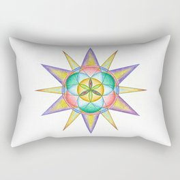 Life Star - The Rainbow Tribe Collection Rectangular Pillow