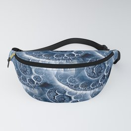 Surging waves of abstract sea Fanny Pack