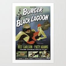 Burger From the Black Lagoon Art Print
