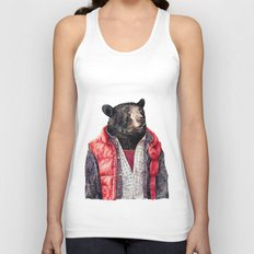 Black Bear Unisex Tank Top