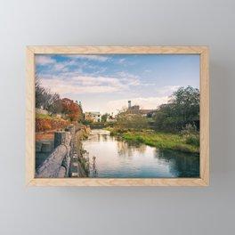Autumn at Obihiro River Framed Mini Art Print