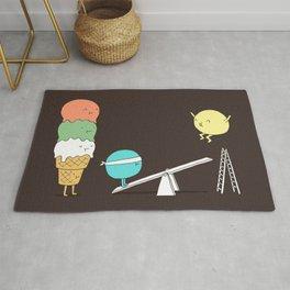 Acrobatic ice cream Rug