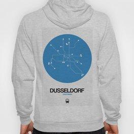 Dusseldorf Blue Subway Map Hoody