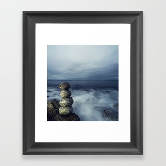 Balanced in the Sea Framed Art Print