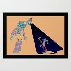 Robot Number 3 and Me Art Print