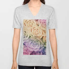 Some people grumble - Colorful Roses - Rose pattern Unisex V-Neck