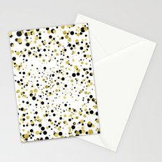 Gold and Black Confetti Stationery Cards
