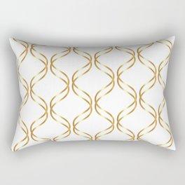 Double Helix - Gold #741 Rectangular Pillow