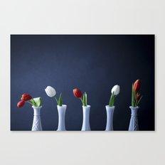 Tulips in Bud Vases Canvas Print